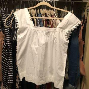 JCrew Pom Pom shirt NWT